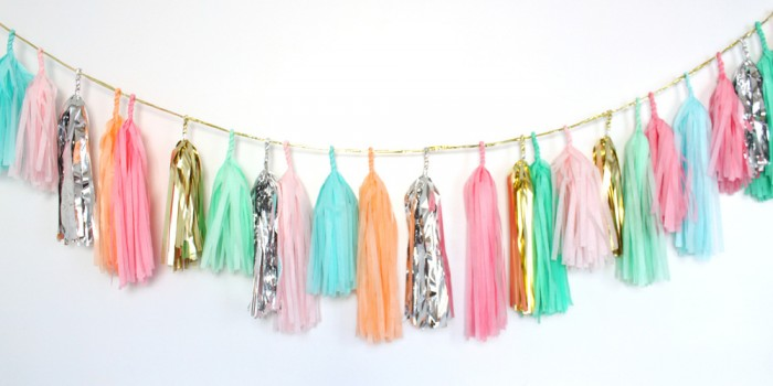 Confetti System tassel garland multi colour