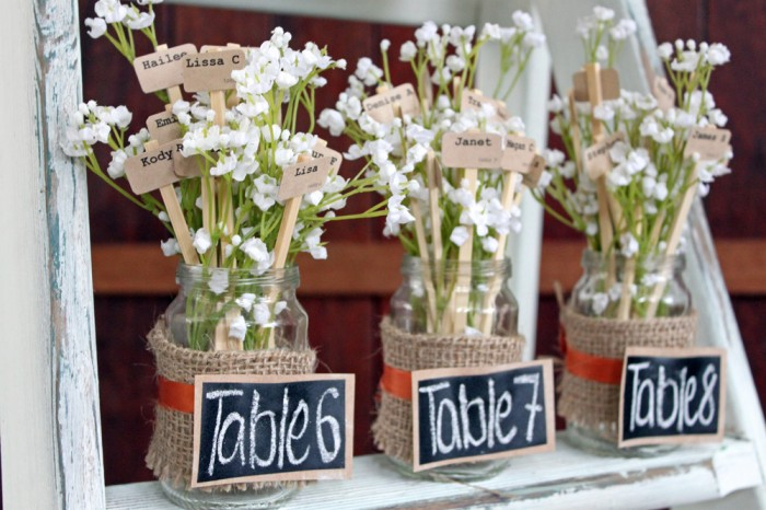Original Flower Table Seating Plan
